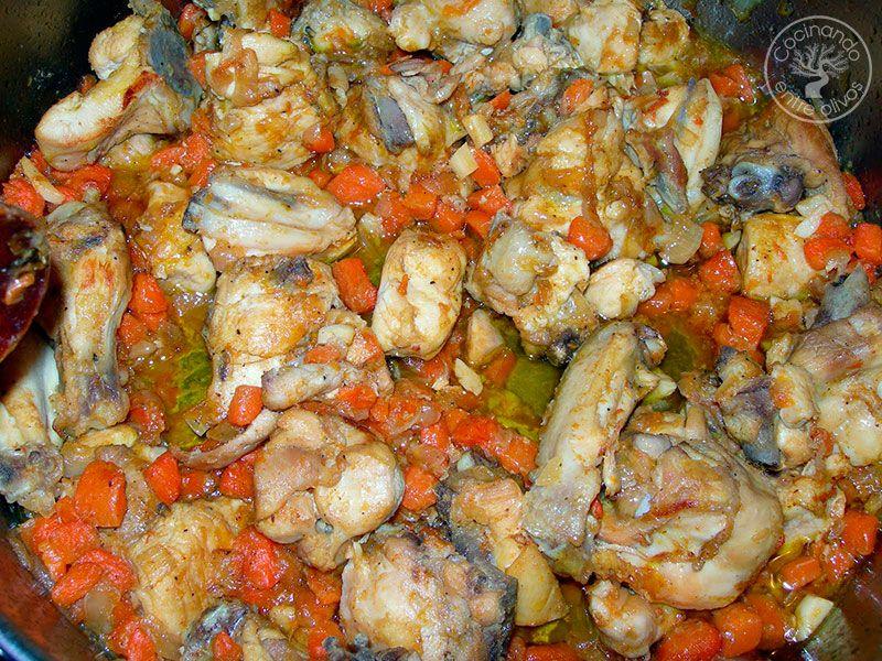 Pollo con zanahorias receta