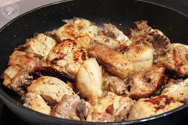 Pollo al ajillo receta Cocinando entre olivos (5)