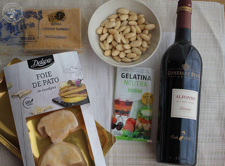 Cómo hacer Bombones de foie y turron ingredientes