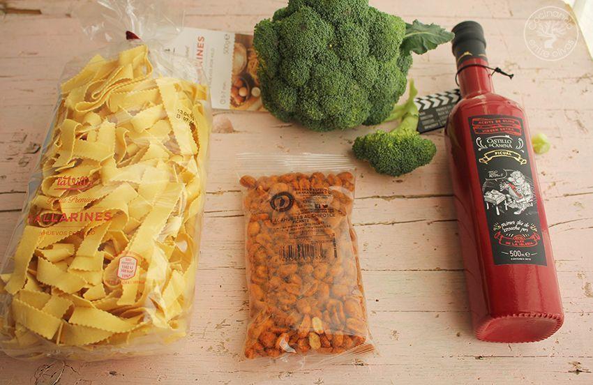 Tallarines con brocoli, cacahuetes al chipotle y aceite de oliva virgen extra (2)