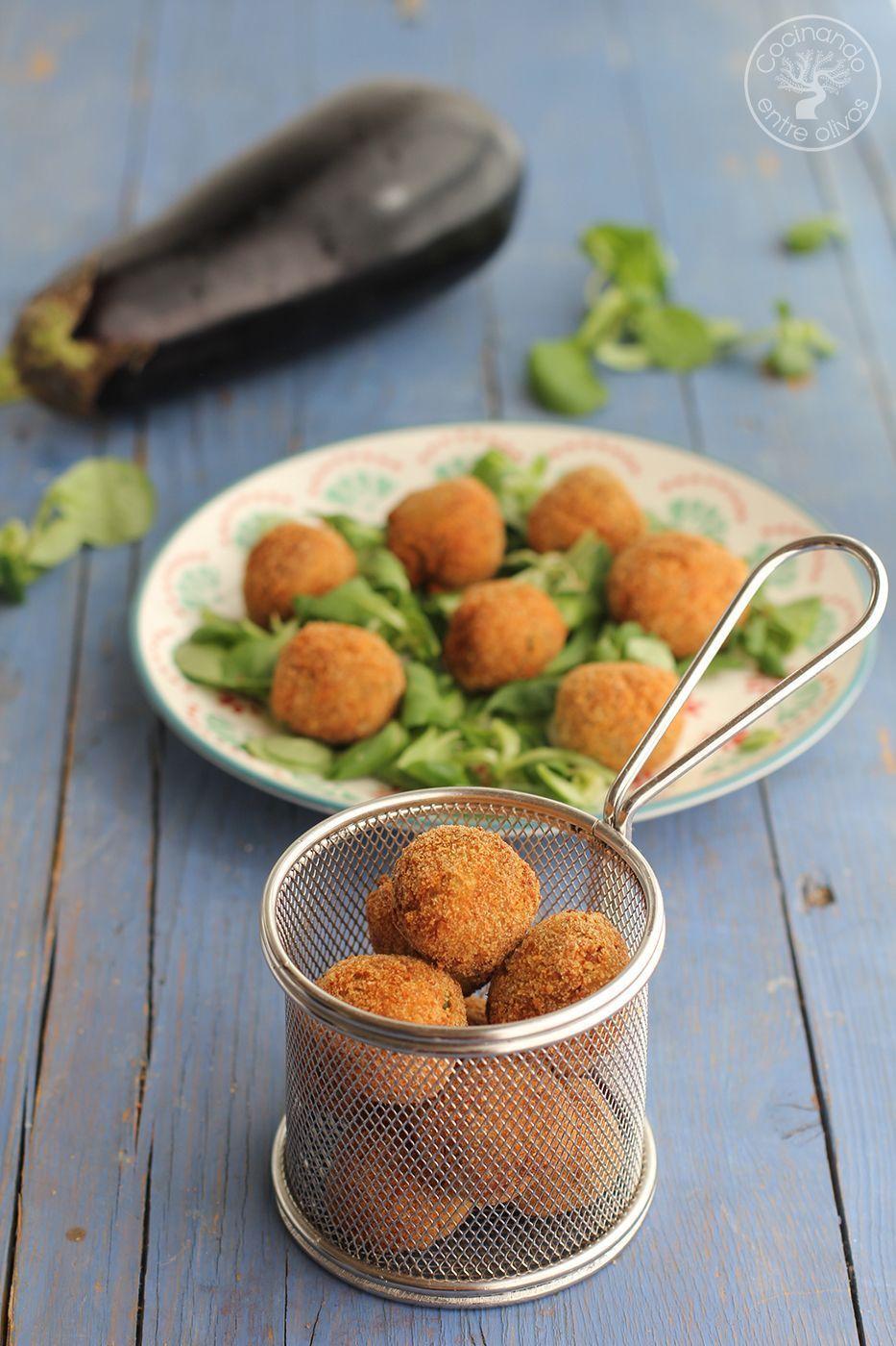 Alb ndigas de berenjena y queso receta paso a paso cocinando entre olivos - Albondigas tradicionales ...