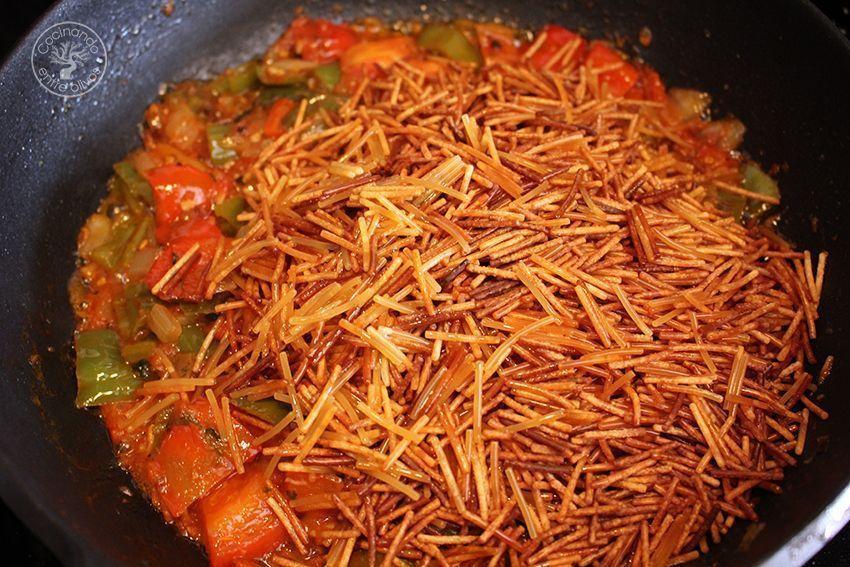 Fideos con caballa receta www.cocinandoentreolivos.com (14)