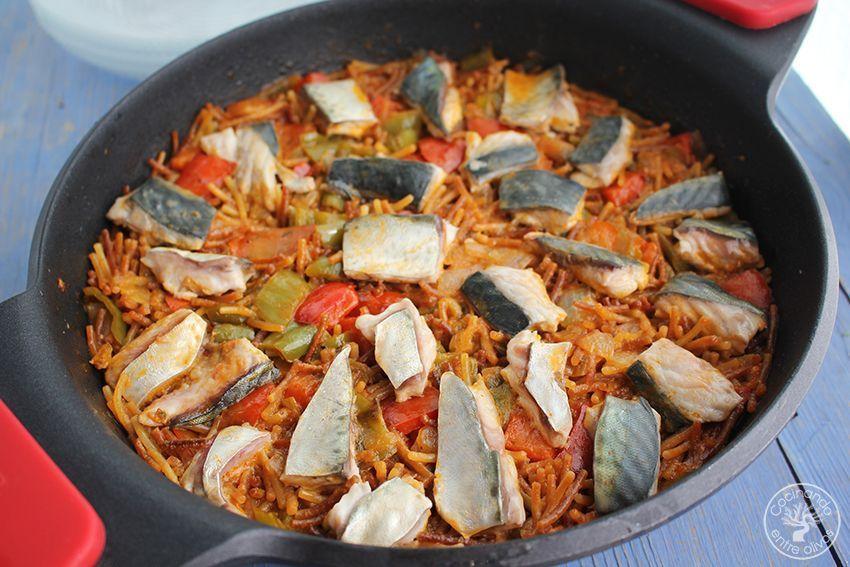 Fideos con caballa receta www.cocinandoentreolivos.com (17)