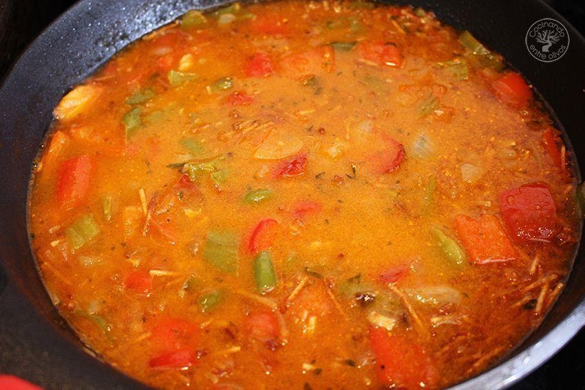 Fideos con caballa receta www.cocinandoentreolivos.com