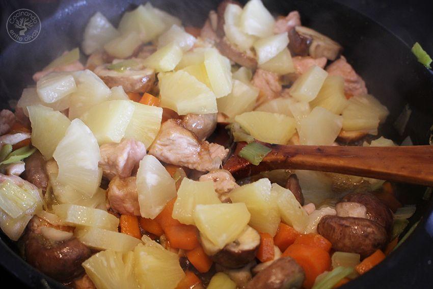 Pavo agridulce con arroz www.cocinandoentreolivos.com (18)
