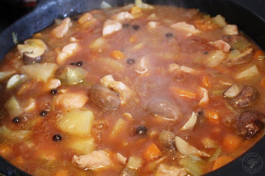 Pavo agridulce con arroz www.cocinandoentreolivos.com (21)