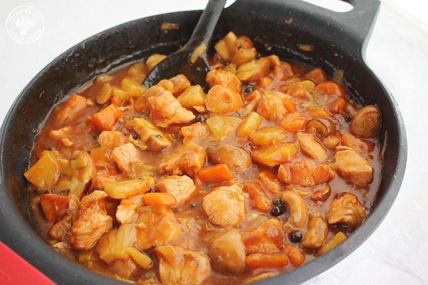 Pavo agridulce con arroz www.cocinandoentreolivos.com (23)
