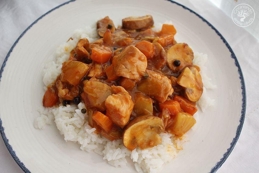 Pavo agridulce con arroz www.cocinandoentreolivos.com (25)