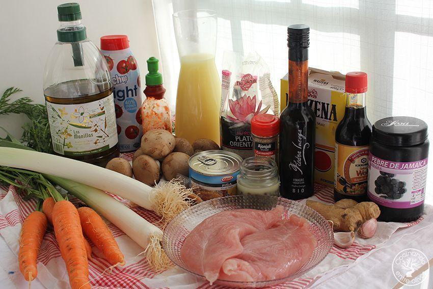 Pavo agridulce con arroz www.cocinandoentreolivos.com (5)