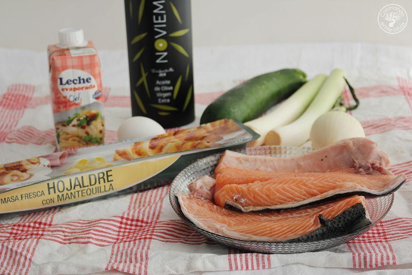 Salmon en hojaldre con calabacin y puerro receta www.cocinandoentreolivos.com (1)