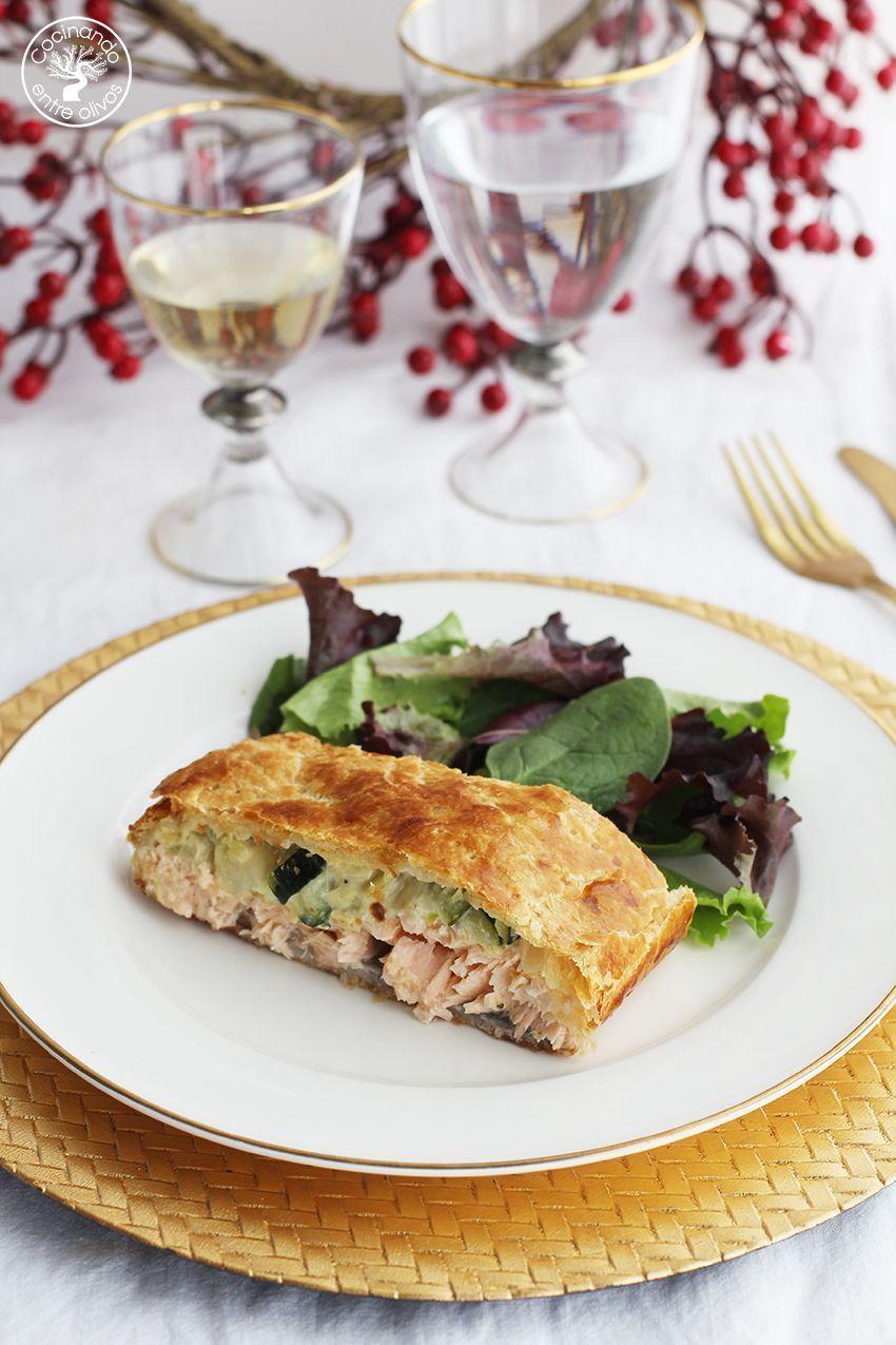 Salmon en hojaldre con calabacin y puerro receta www.cocinandoentreolivos.com (16)