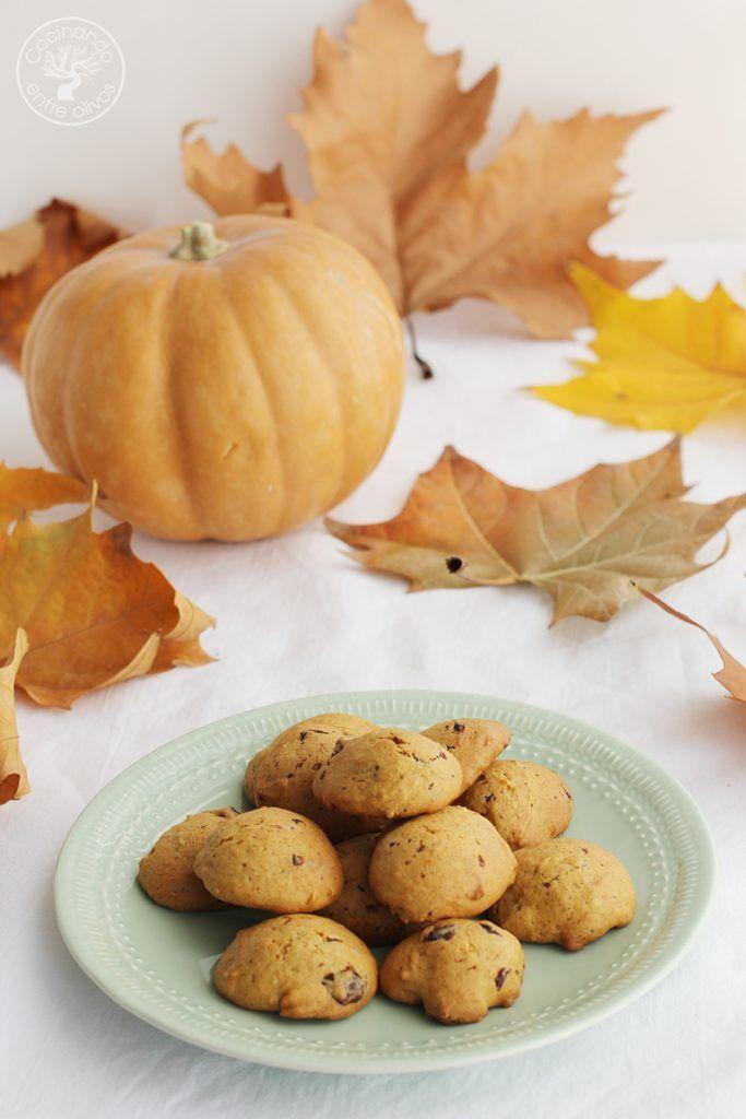 Galletas de calabaza, chocolate y aove www.cocinandoentreolivos.com (1)