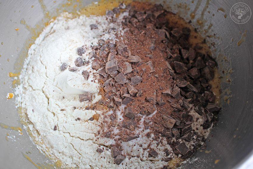 Galletas de calabaza, chocolate y aove www.cocinandoentreolivos.com (13)