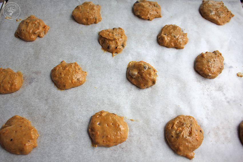 Galletas de calabaza, chocolate y aove www.cocinandoentreolivos.com (15)