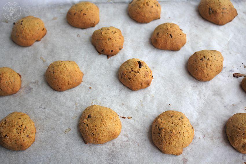 Galletas de calabaza, chocolate y aove www.cocinandoentreolivos.com (16)