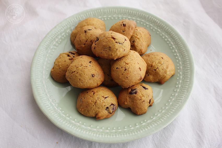 Galletas de calabaza, chocolate y aove www.cocinandoentreolivos.com (2)