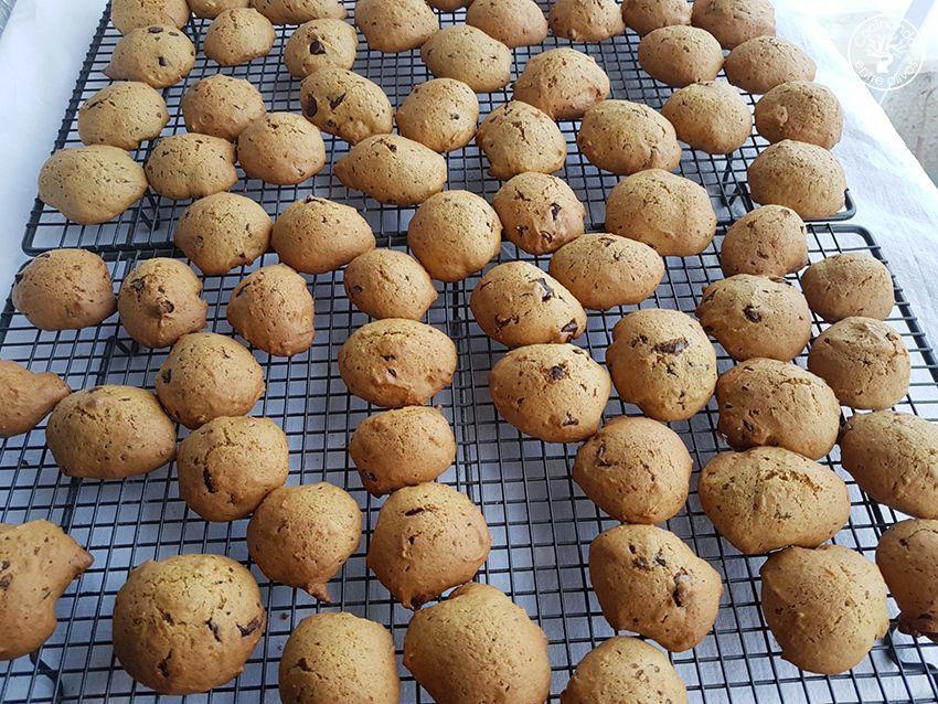 Galletas de calabaza, chocolate y aove www.cocinandoentreolivos.com