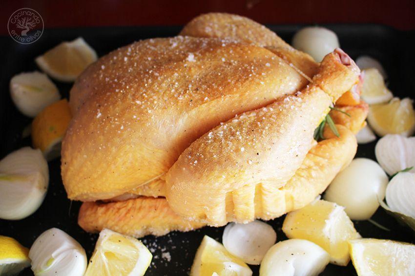 Pollo asado al horno con mandarinas www.cocinandoentreolivos.com (11)