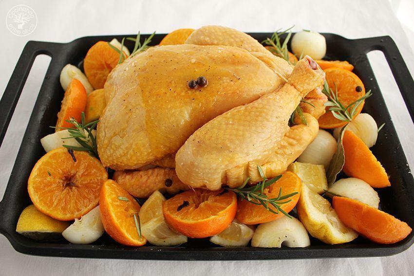 Pollo asado al horno con mandarinas www.cocinandoentreolivos.com (14)