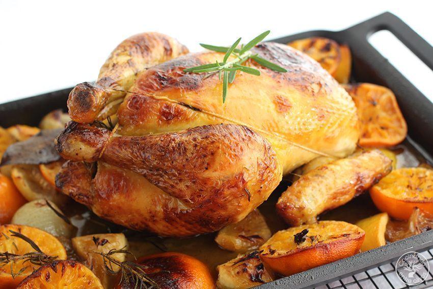 Pollo asado al horno con mandarinas www.cocinandoentreolivos.com (15)