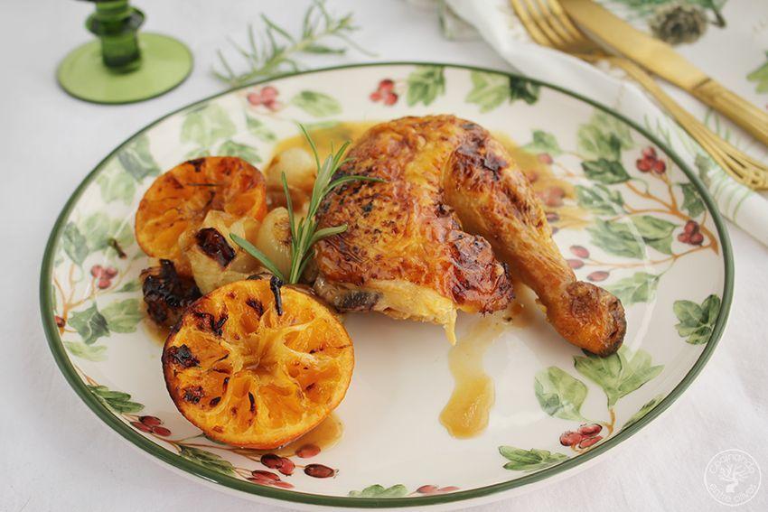 Pollo asado al horno con mandarinas www.cocinandoentreolivos.com (17)