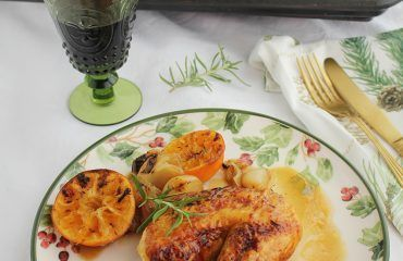 Pollo asado al horno con mandarinas www.cocinandoentreolivos.com (18)