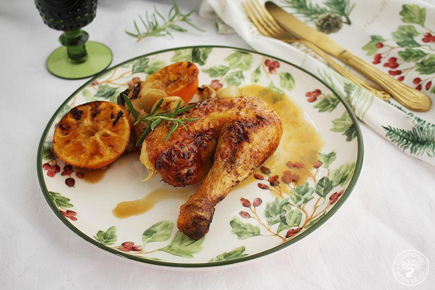 Pollo asado al horno con mandarinas www.cocinandoentreolivos.com (19)