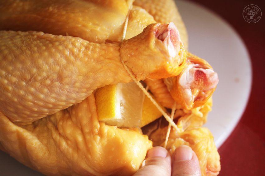 Pollo asado al horno con mandarinas www.cocinandoentreolivos.com (5)