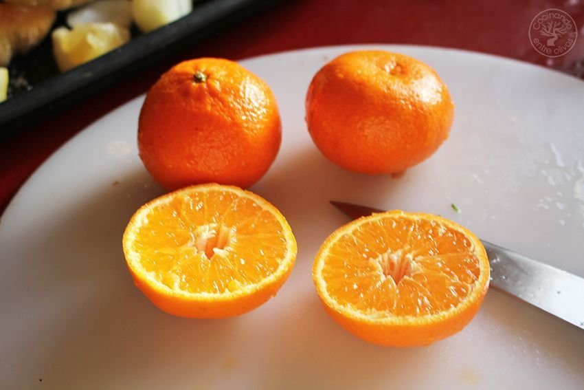 Pollo asado al horno con mandarinas www.cocinandoentreolivos.com (7)