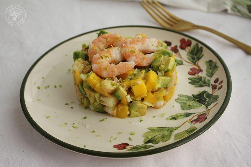 Tartar de aguacate, mango y langostinos (21)
