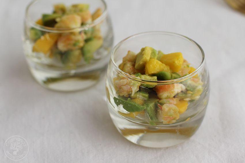 Tartar de aguacate, mango y langostinos (23)