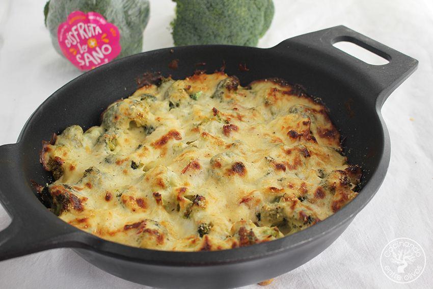 Brocoli gratinado con jamon y queso www.cocinandoentreolivos.com (1)