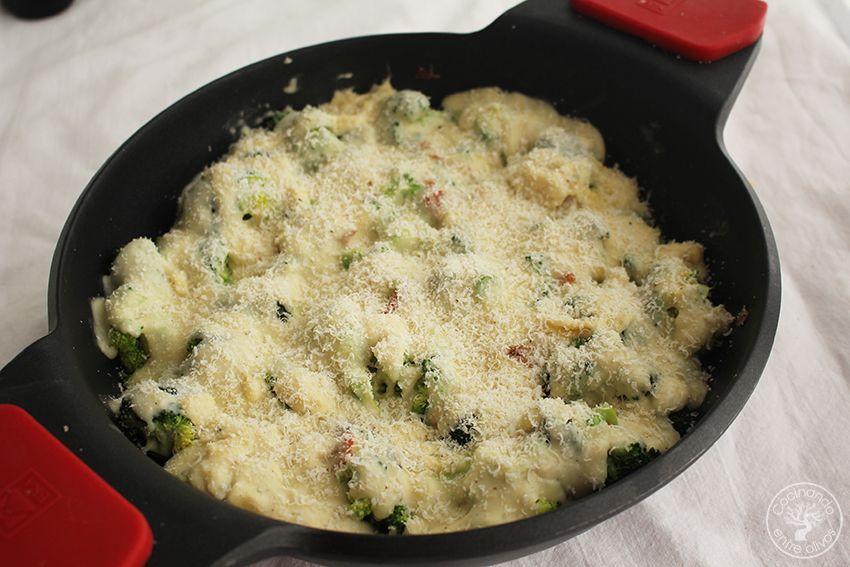 Brocoli gratinado con jamon y queso www.cocinandoentreolivos.com (19)
