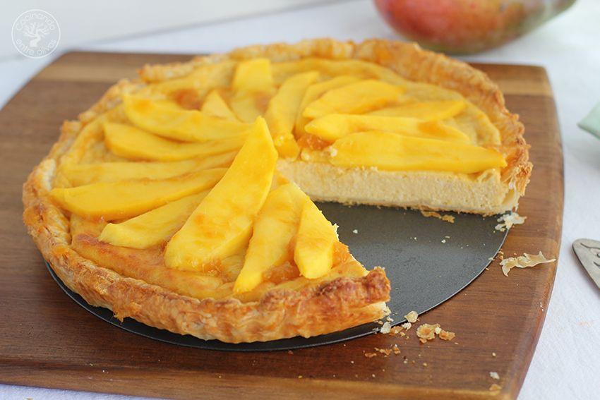 Tarta de mango y requesón con hojaldre (1)