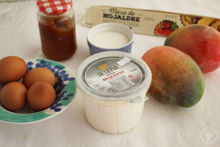 Tarta de mango y requesón con hojaldre (2)