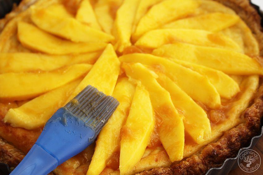 Tarta de mango y requesón con hojaldre (20)