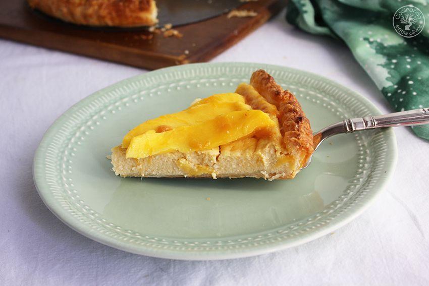 Tarta de mango y requesón con hojaldre (22)