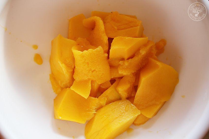 Tarta de mango y requesón con hojaldre (8)