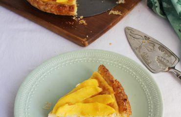 Tarta de mango y requeson con hojaldre (1)