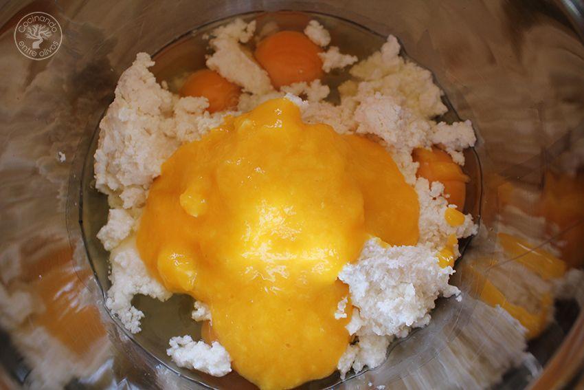 Tarta de mango y requeson con hojaldre (2)