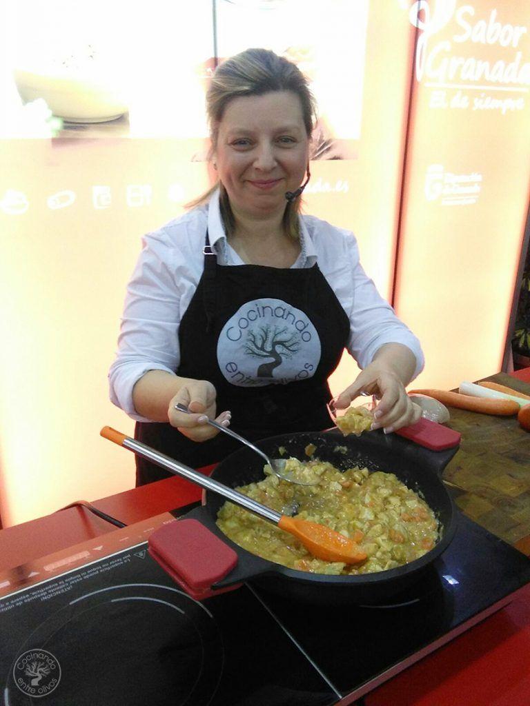 Cocinando entre olivos Chirimvita (2)