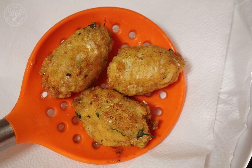 Potaje de garbanzos, collejas y panecillos de bacalao Receta (22)