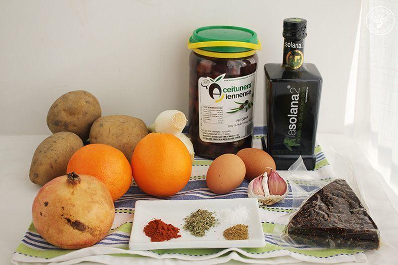 Ensalada de invierno con naranja y pan de higo www.cocinandoentreolivos.com (1)