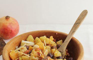 Ensalada de invierno con naranja y pan de higo www.cocinandoentreolivos.com (15)