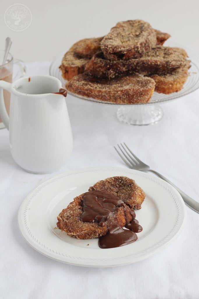 Torrijas de chocolate Receta www.cocinandoentreolivos.com (17)