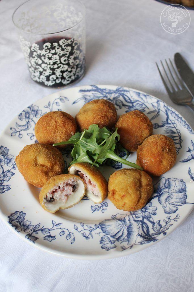Champiñones rellenos de jamón york y queso receta www.cocinandoentreolivos.com (7)