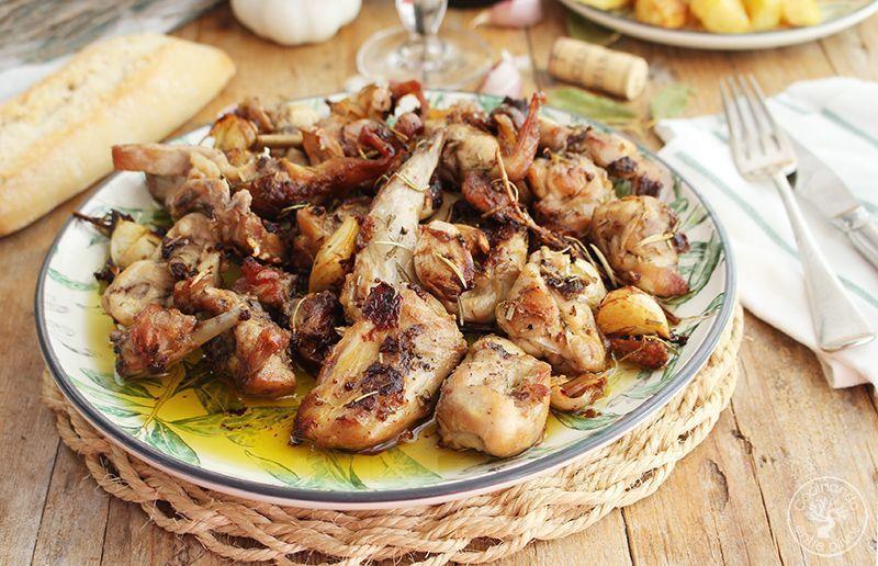 Conejo al ajillo receta www.cocinandoen