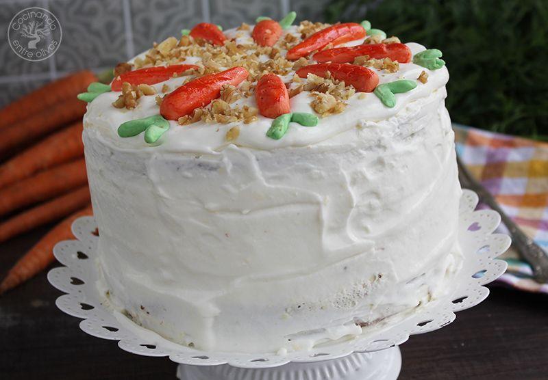 Tarta de zanahoria Carrot Cake Receta (12)