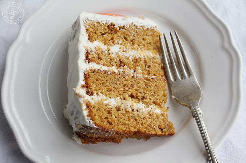 Tarta de zanahoria Carrot Cake Receta (15)
