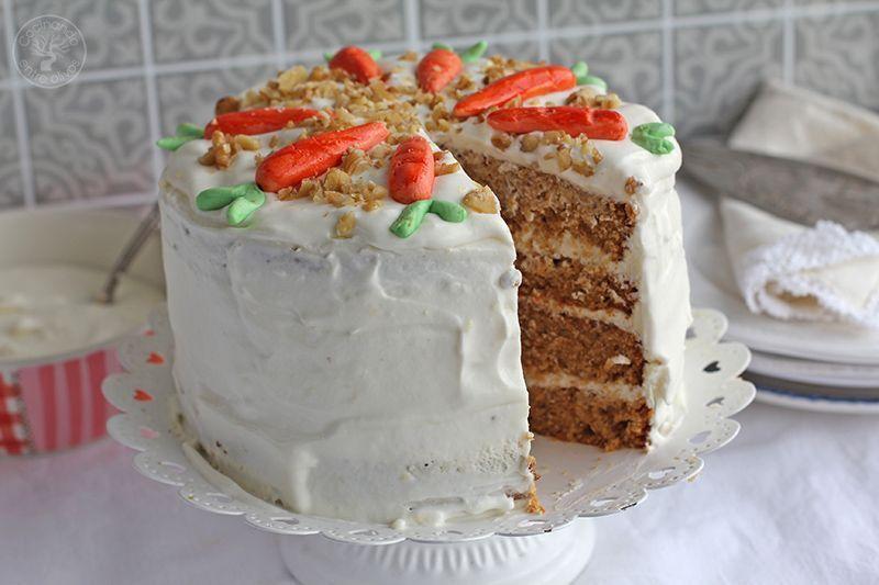 Tarta de zanahoria Carrot Cake Receta (16)